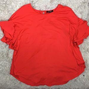 Plus Size Ruffle Sleeve Blouse!